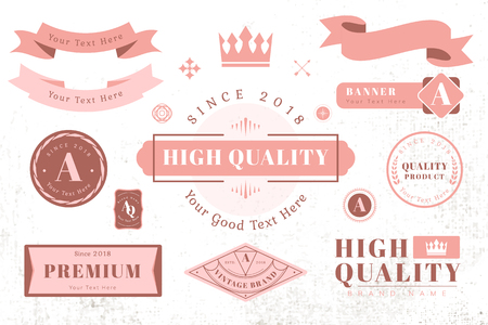 Vintage high quality design element vectors Ilustrace