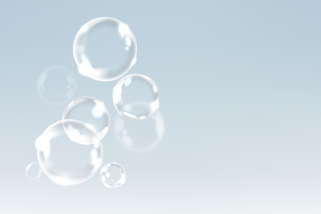 Soap bubbles floating into the sky background vector 写真素材 - 124220055