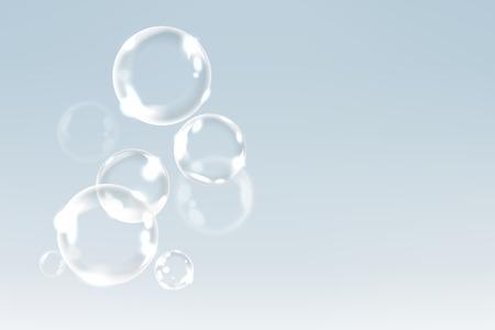 Zeepbellen drijven in de lucht achtergrond vector Vector Illustratie