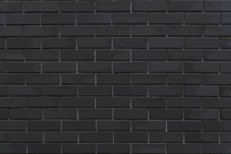 Dark gray brick textured background vector