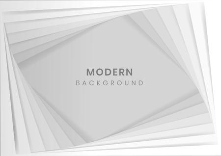 White modern background design vector  イラスト・ベクター素材