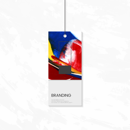 Tag branding with abstract design vector Vetores