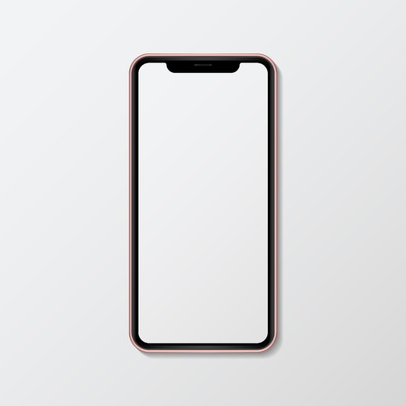 Digital mobile phone screen mockup
