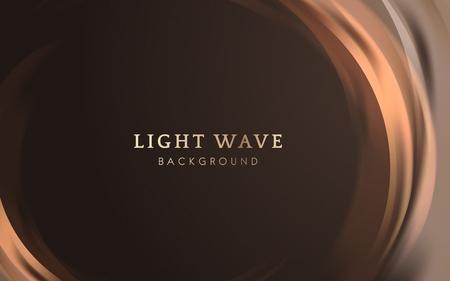Orange light wave border background