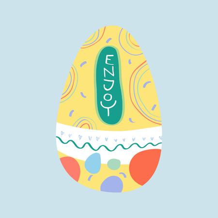 Vecteur de carte de célébration de Pâques Vecteurs