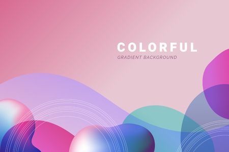 Colorful abstract gradient background vector