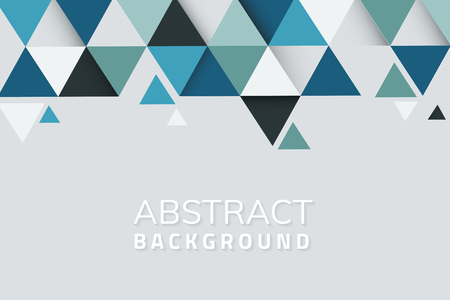 Abstract blue and green geometric background vector Illustration