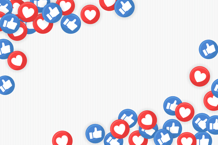 Social media icons themed border on a white background vector  イラスト・ベクター素材