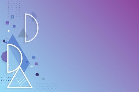 Purple blue abstract geometric background vector Standard-Bild - 119834521