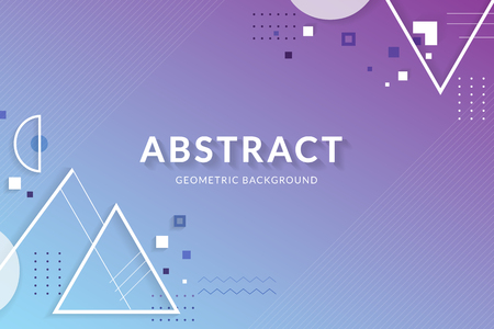 Purple blue abstract geometric background vector
