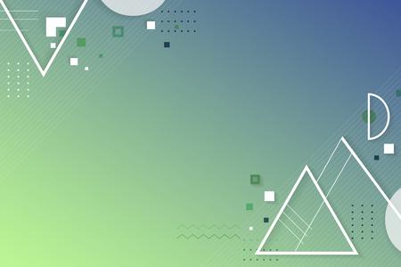 Grüner blauer abstrakter geometrischer Hintergrundvektor