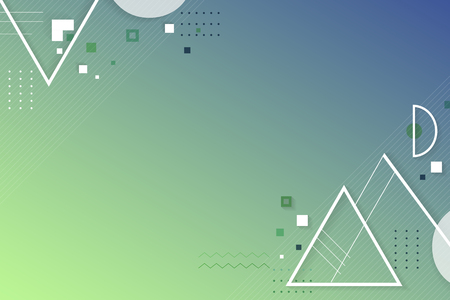 Vecteur de fond géométrique abstrait bleu vert