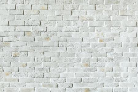 White brick wall textured background Foto de archivo - 119836560