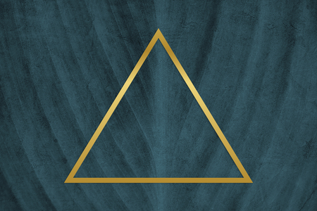 Golden framed triangle on a wall textured illustration