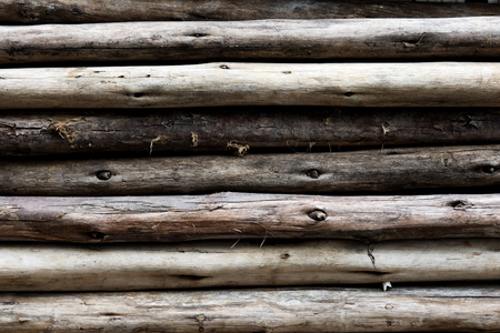 Beige wood logs textured background Stockfoto - 119997919