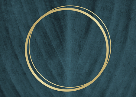 Golden framed circle on a wall textured illustration