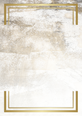 Golden framed badge on a marble texture 스톡 콘텐츠