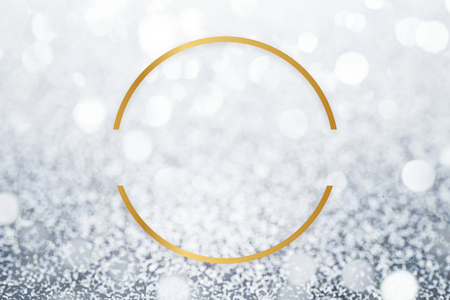 Golden framed semicircle on a glitter texture Stock Photo - 119698232