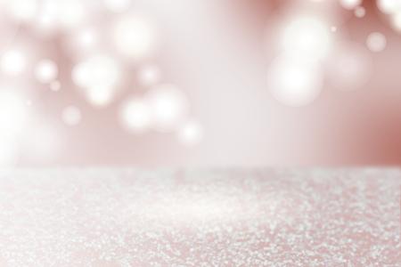 Bokeh de plata rosa con textura de fondo liso