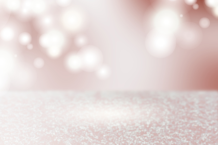 Pink silver bokeh textured plain background