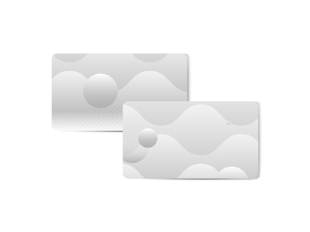 Silver geometric abstract patterned business card template vector Illustration