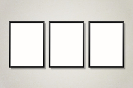 Black frame collection mockup vector