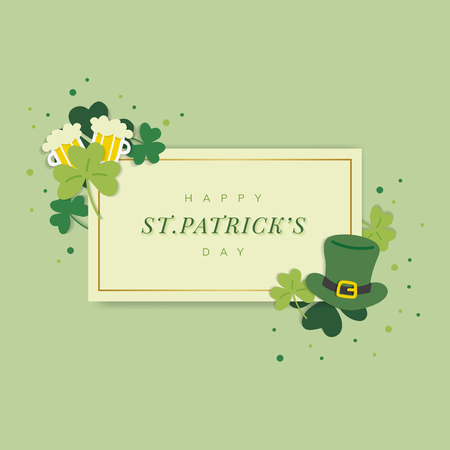 St.Patrick's Day rectangle banner vector