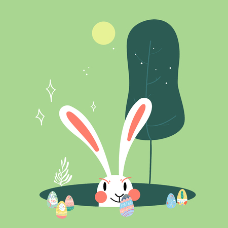 Easter celebration card vector Stock Vector - 124142316