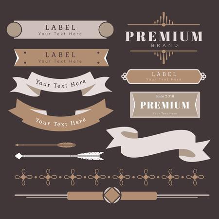 Vintage high quality design element vectors  イラスト・ベクター素材