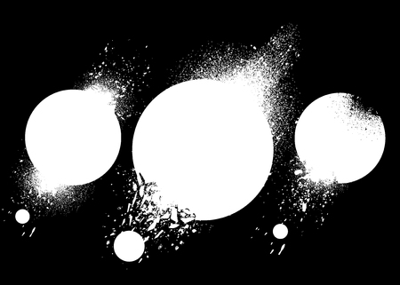 Design elements with ink splashes vector set