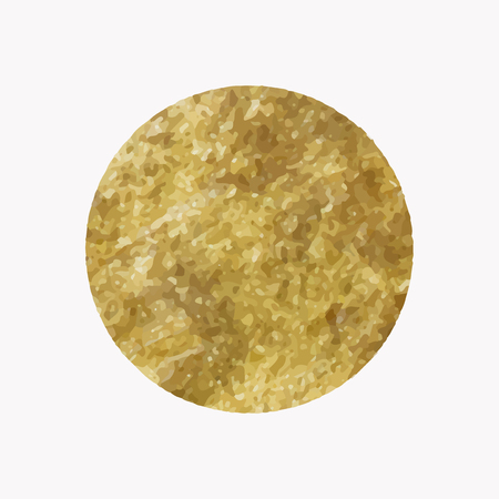 Round shimmery gold badge vector Illustration