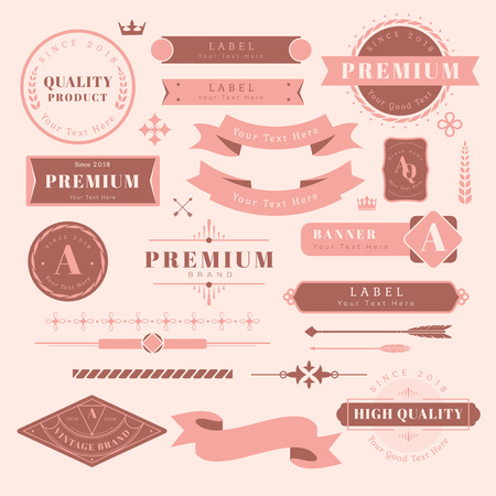 Vintage high quality design element vectors Illustration