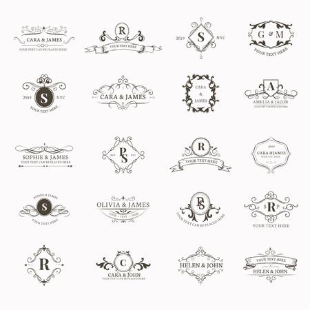 Ensemble de conception d'insigne baroque vintage