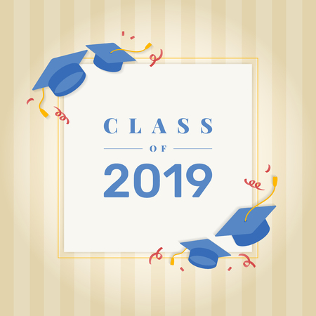 Graduation class of 2019 vector Stock Vector - 124142355