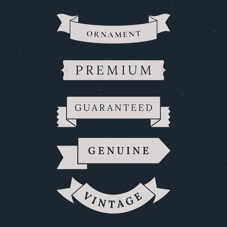 Vintage premium banner collection vectors Banque d'images - 119998084