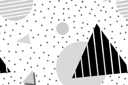 Gray Memphis patterned background vector 일러스트