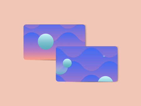 Bluish geometric abstract patterned business card template vector Stock Vector - 119998094