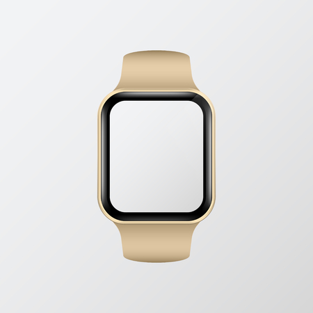 Digital smart watch screen mockup Illustration