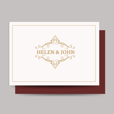 Vintage baroque wedding invitation design Illustration