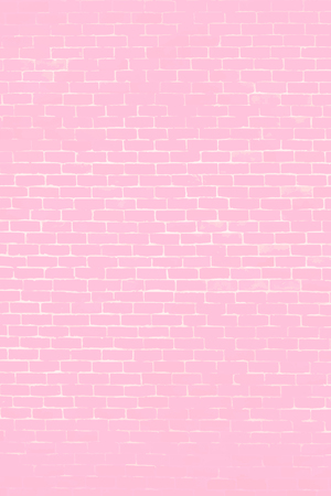 Pastel pink brick wall textured background vector