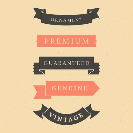 Vintage premium banner collection vectors Banque d'images - 119998105