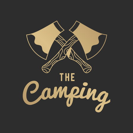 The camping vintage logo vector