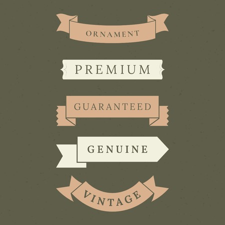Vintage premium banner collection vectors Banque d'images - 119998112