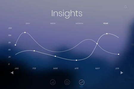 Digital chart insights on a screen vector