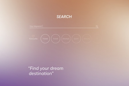 Find your dream destination on a search engine
