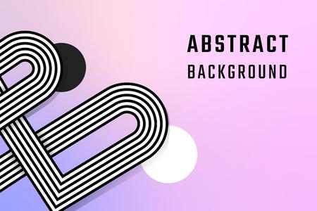 Retro gradient abstract background design vector
