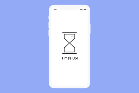 Hourglass on a digital screen vector