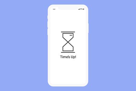 Hourglass on a digital screen vector