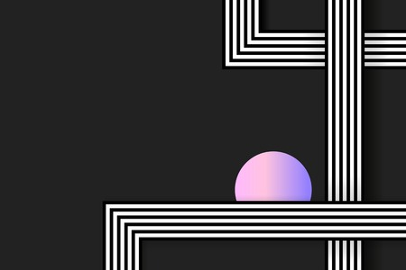 Retro black abstract background design vector Иллюстрация