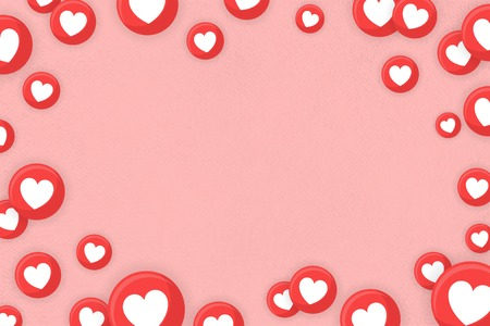Heart icons themed border background vector Иллюстрация